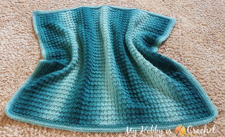Crochet Baby Blanket Sedge Stitch