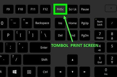 tombol screenshot di laptop pc