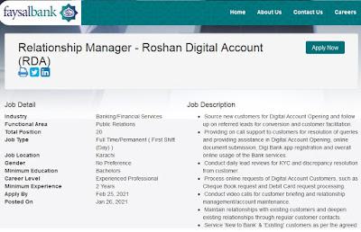 Faysal Bank Jobs 2021 Latest Faysal Bank Jobs January 2021 Apply Online