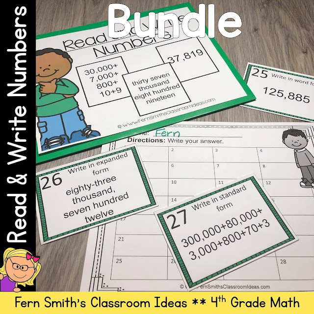 Click Here to Download This 4th Grade Go Math 1.2 Read and Write Numbers Bundle for Your Classroom Today