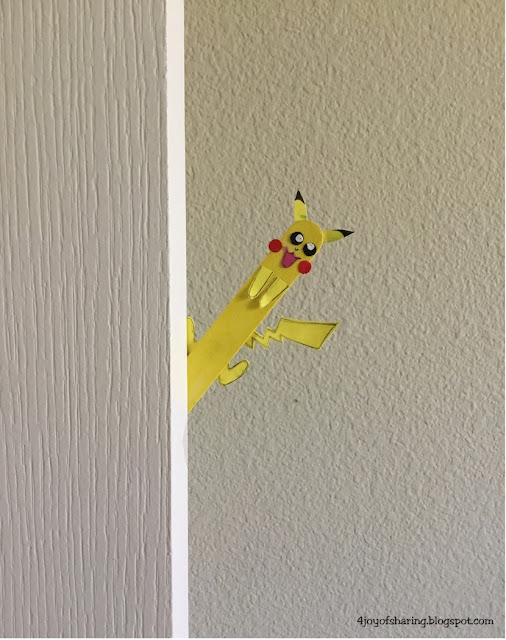Popsicle stick craft, craft stick craft, crafts for kids, kids craft, fun craft, summer craft, preschool craft, pokemon craft, mouse craft