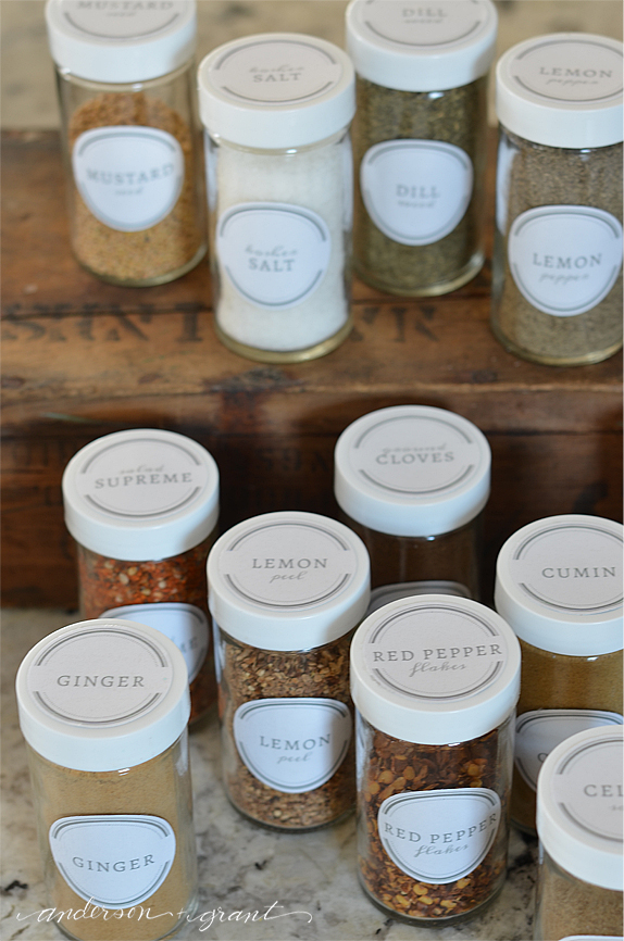 Free Printable Spice Jar Labels to Organize Your Kitchen anderson