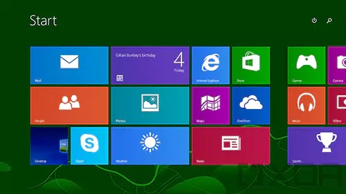 شاشة بدء Windows 8