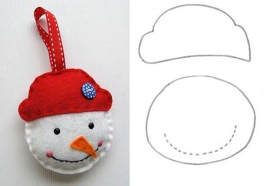 Manualidades navidad fieltro adorno muñeco de nieve