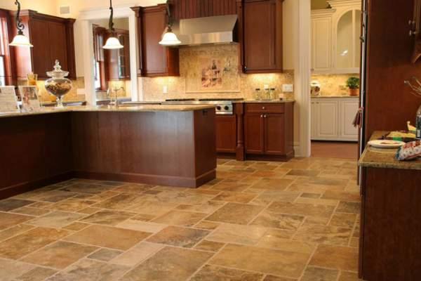 Desain lantai dapur keramik