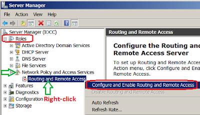 Configure VPN Server in Windows Server 2008 R2