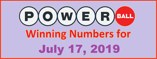 PowerBall Winning Numbers for Wednesday, July 17, 2019