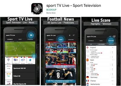 aplikasi live streaming sepak bola