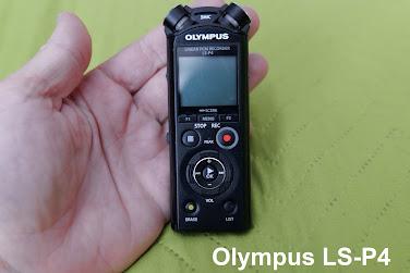 Olympus LS-P4 voice recorder feedback