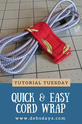 Homemade Quick and Easy Fabric Scrap Cable and Cord Wrap Sewing Project