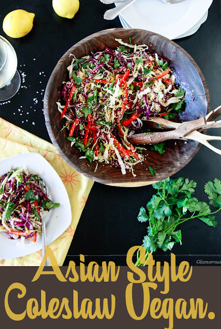 Asian Style Coleslaw with fresh crisp cabbage and light zesty dressing