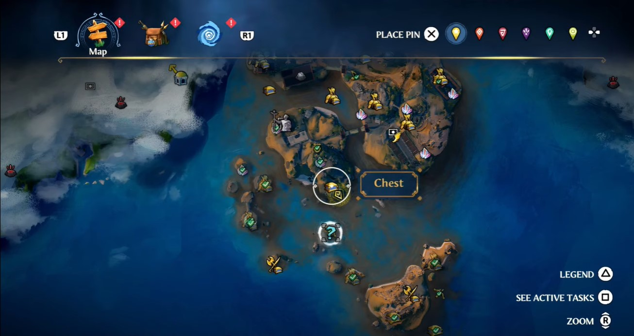 Immortals: Fenyx Rising: All chests on the clashing Rock