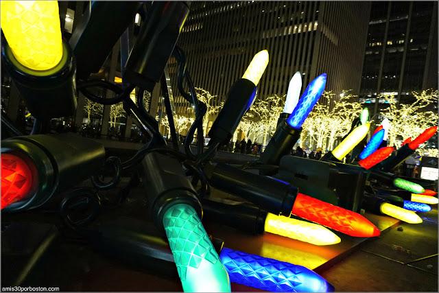 Luces Gigantes de Navidad en Nueva York