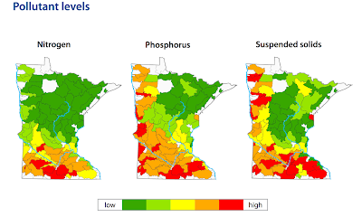 Minnesota streams pollutant levels