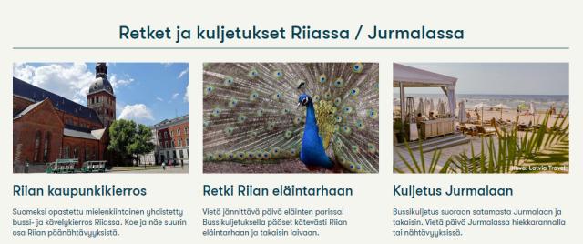 Retket ja kuljetukset Riiassa / Jurmalassa