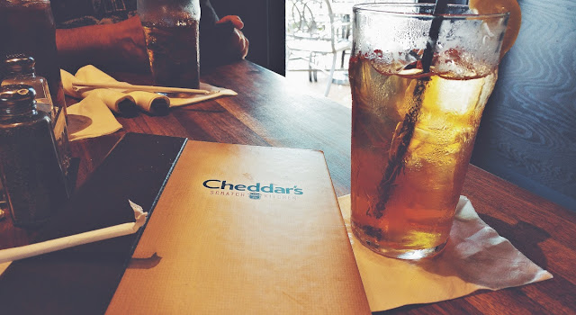 Cheddar's iced tea is so refreshing on a hot day #ad