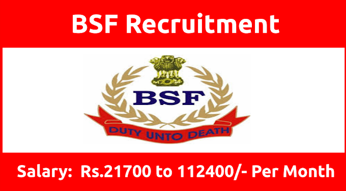 BSF Recruitment 2020 Notification