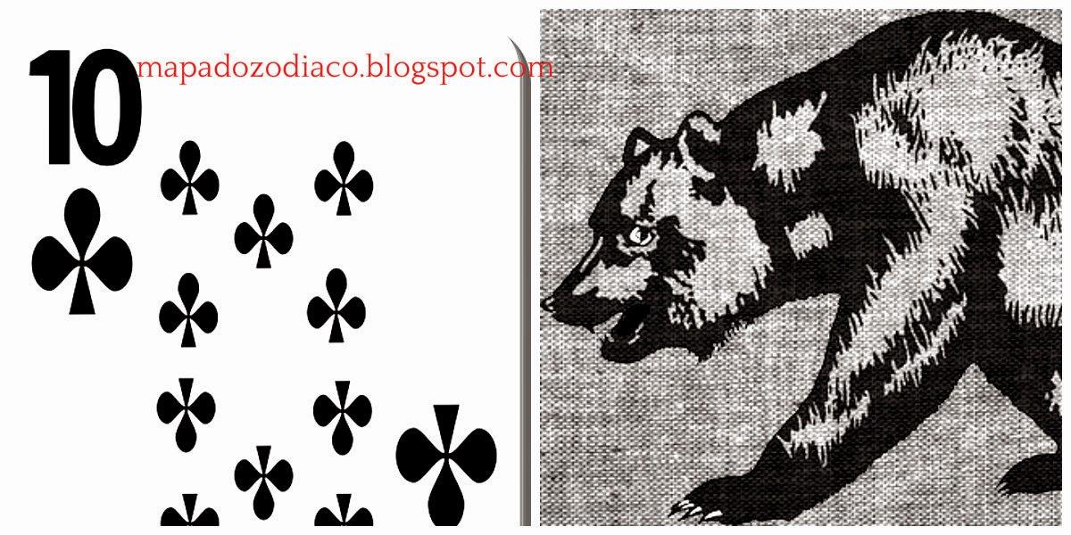 significado carta cigana lenormand urso 10 paus