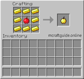 how to make golden apple in minecraft