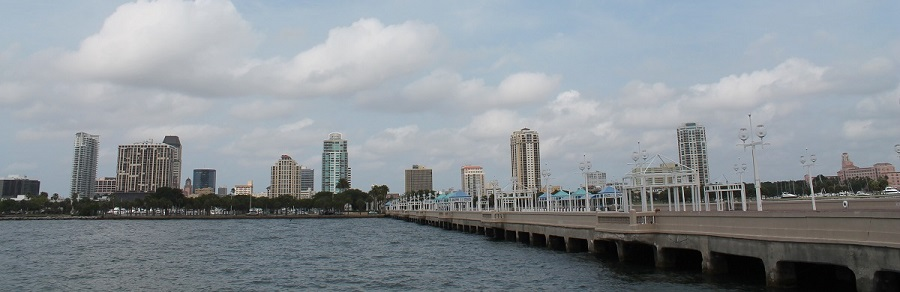 St Petersburg desde el Pier o muelle