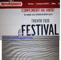 Logo Con Rovagnati ''Gusta gioca e vinci'' vince weekend Festival dello Sport (prova anche tu)
