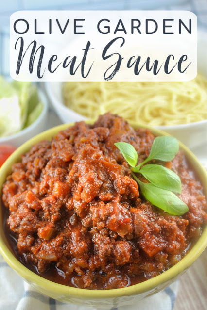 Olive Garden is one of my favorite restaurants and I love to recreate their dishes at home and this recipe for their Meat Sauce is spot on! It's rich, thick and meaty perfection!