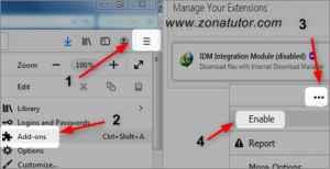 Cara MengaktifkanTombol Download Idm Di Mozilla Firefox