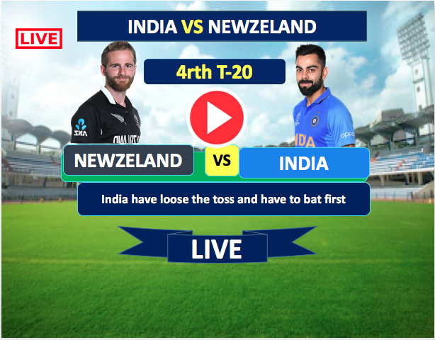 4rth T-20  Match :  India vs New Zealand- 31st Jan, India is batting now