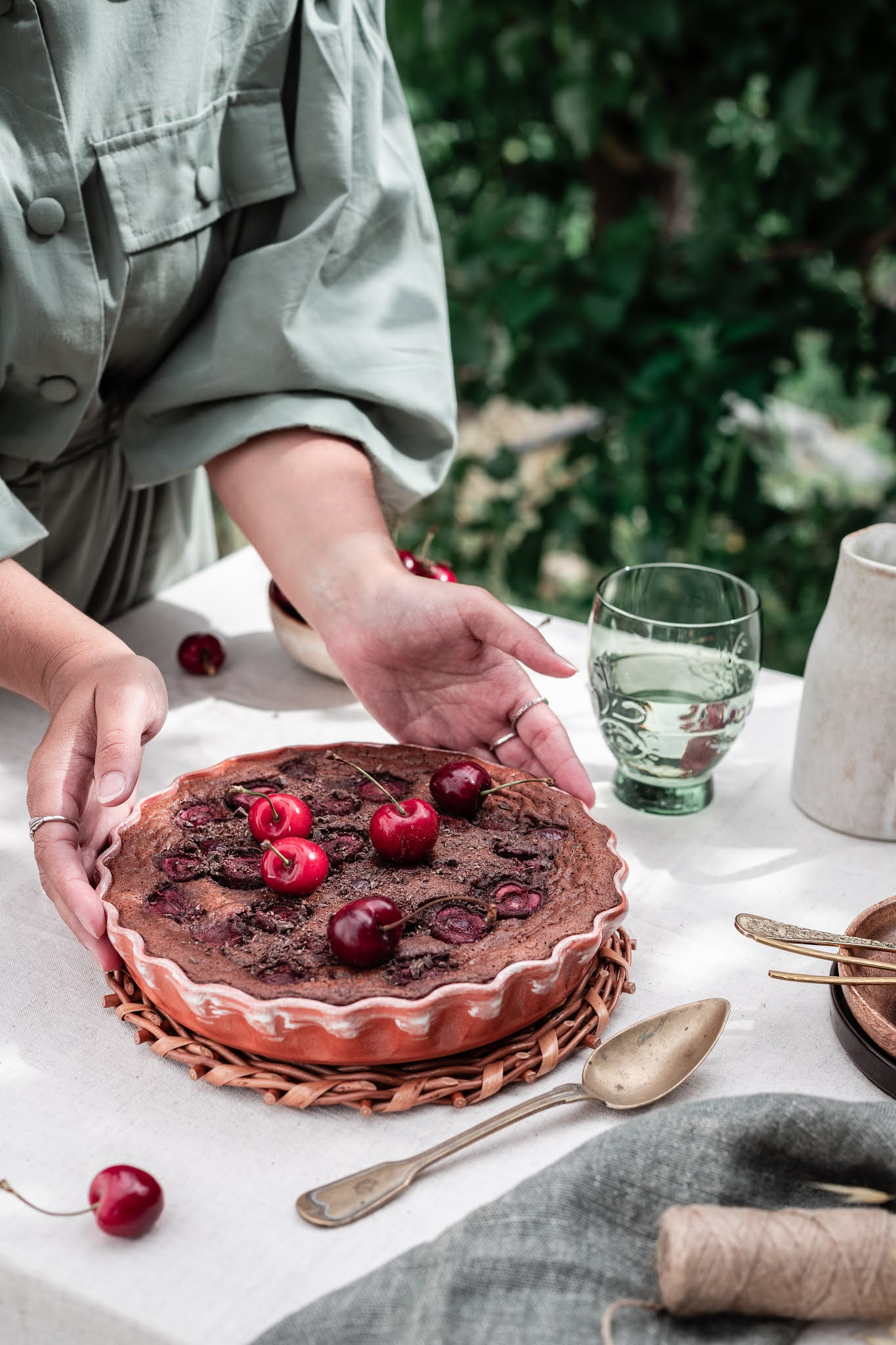 Clafoutis de Chocolate e Cerejas