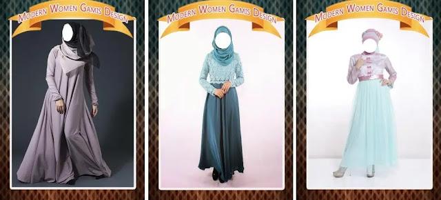Daftar Aplikasi Desain Baju - Modern Women Gamis Design