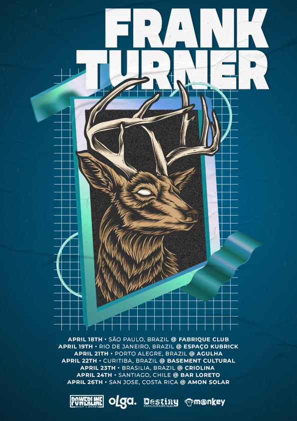Ícone do folk punk, Frank Turner estreia no Brasil em abril de 2020
