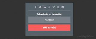 hộp đăng kí nhận bài đăng mới cho blogspot