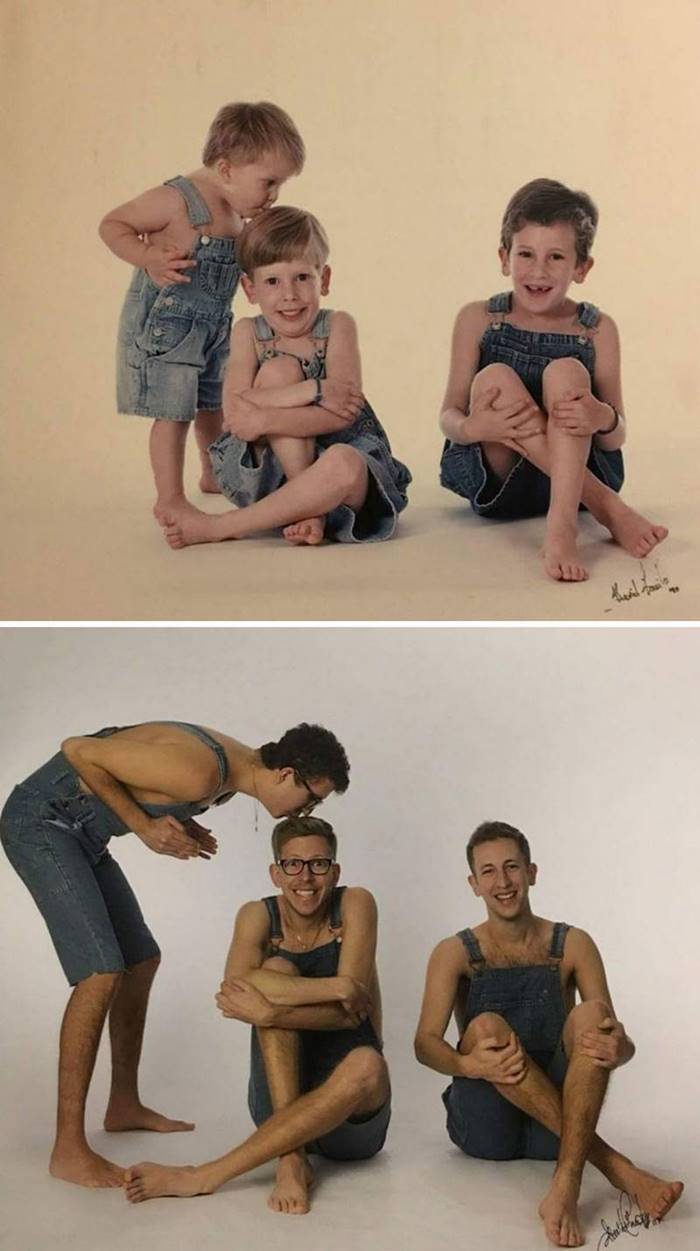 """Exactly 20 years later, we turned to the same photographer to surprise our parents with an unusual gift."""