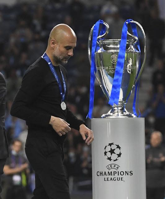 جوارديولا يودع كأس دورى أبطال أوروبا بعد الخسارة