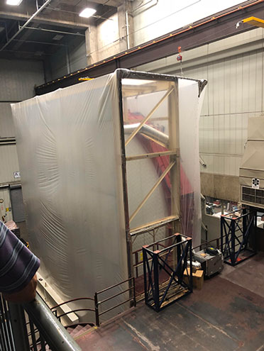 The mold material is being removed from one of the mirrors for GMT (Source: Palmia Observatory)