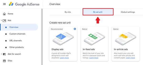 How to add sponsored search ads of AdSense on blogger site