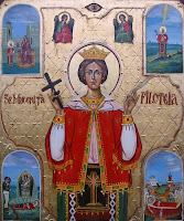 Sfanta Mucenita Filoteea,icoana pe lemn
