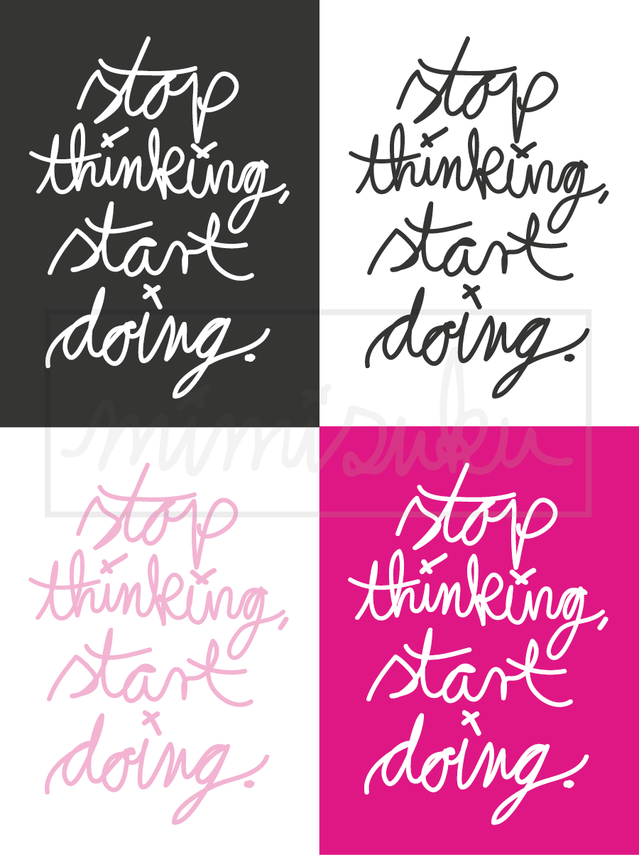 One little Word 2015 - Freebie auf dem Blog - Printable - Project Life - Journaling Cards - Stop thinking start doing