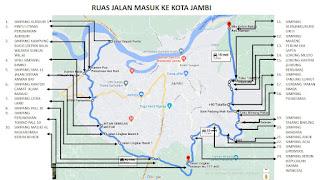 Inilah Pos Penyekatan PPKM Level IV Wilayah Kota Jambi
