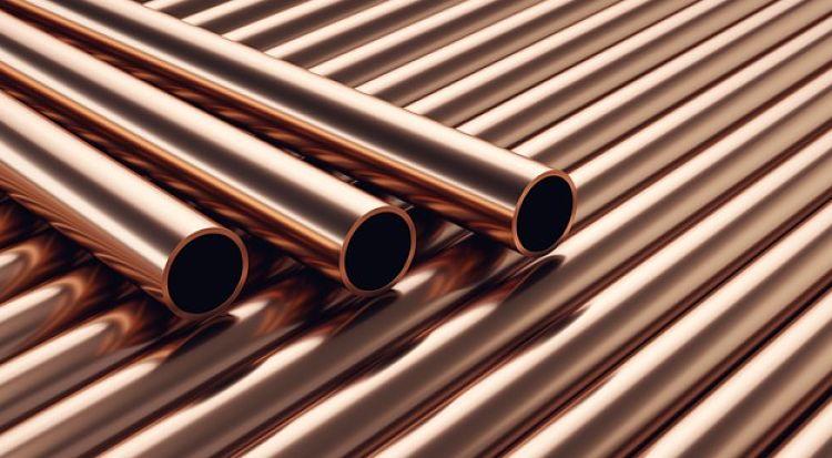 Tubos de cobre muy utilizados en diseños de ingenieria quimica