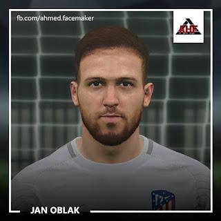 PES 2017 Faces Jan Oblak by Ben Hossam FaceMaker