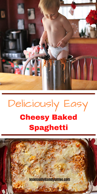 Deliciously Easy Cheesy Baked Spaghetti