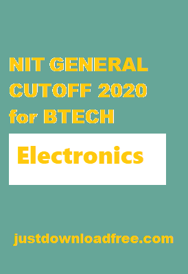 NITs ECE General CUTOFF 2020 for BTECH (ROUND 6 RANK WISE)