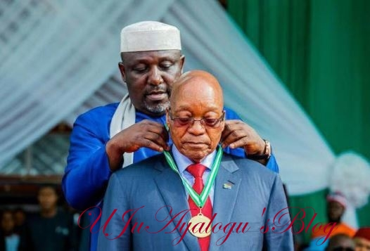 Why Okorocha Probably Erected a Statue for President Zuma