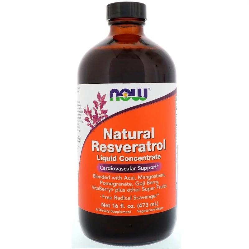 Now Foods, Жидкий концентрат натурального ресвератрола, 16 жидких унций (473 мл)