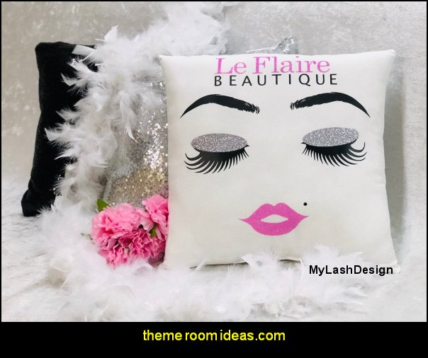 Sequin Pillow Make up Pillow Eyelash sign Eyebrows Decor Personalized Eyebrows Pillow Handmade Sequin Brows