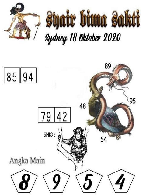Kode syair Sydney Minggu 18 Oktober 2020 225