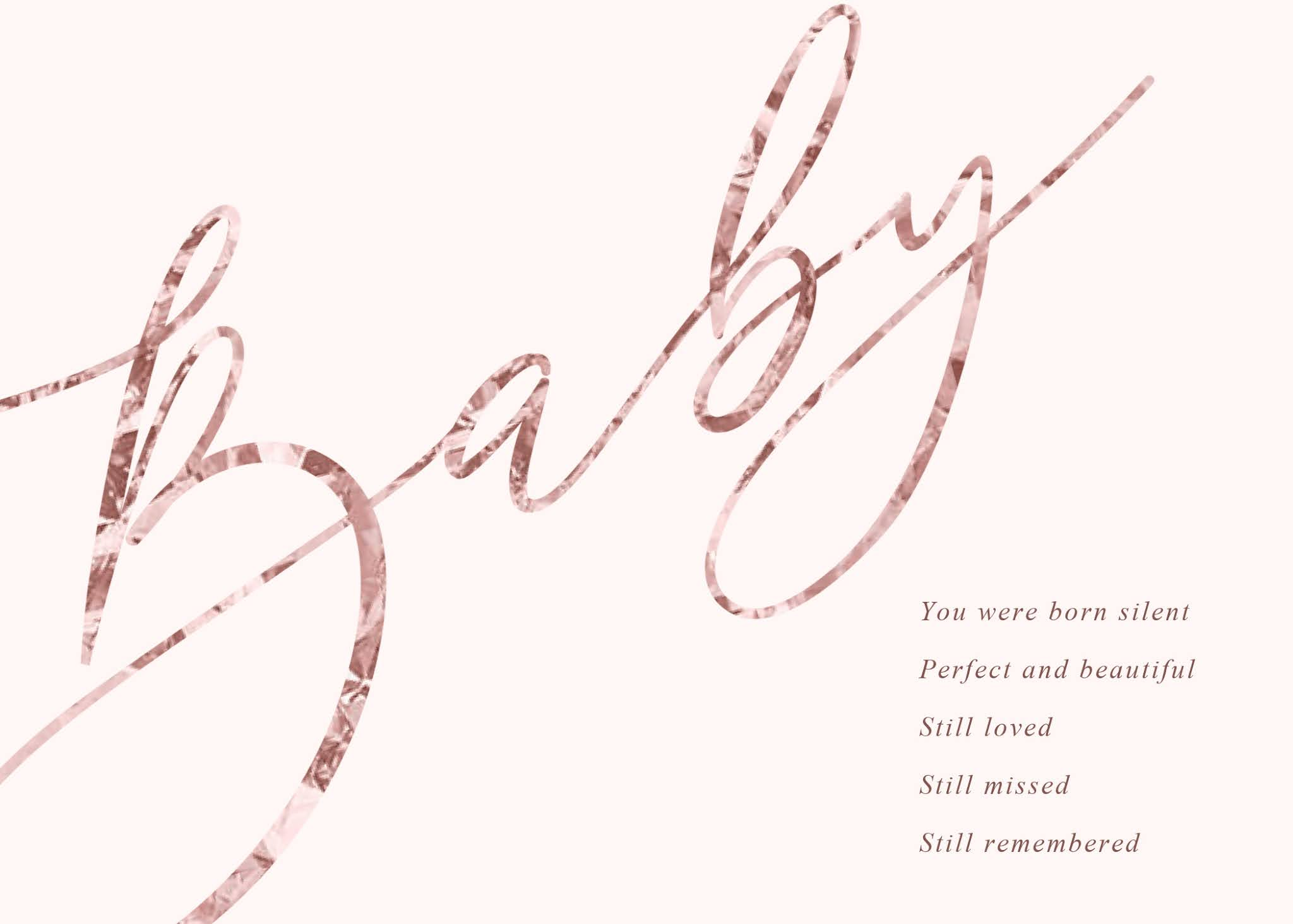 baby stillborn poem