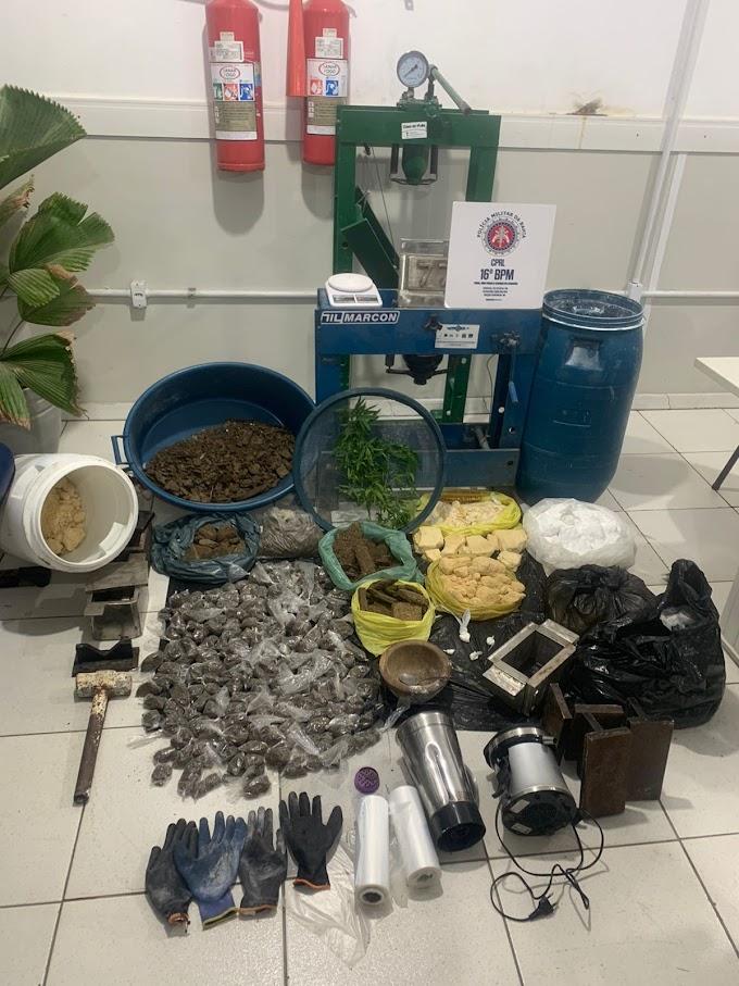 Laboratório de cocaína é descoberto na zona rural em Santa Bárbara