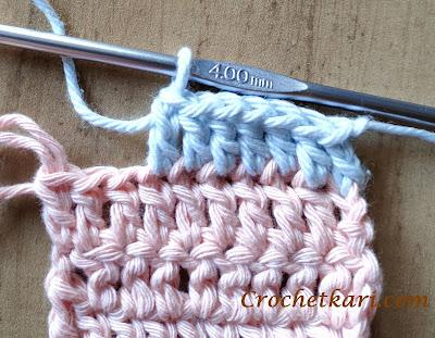 crochet in front loop only